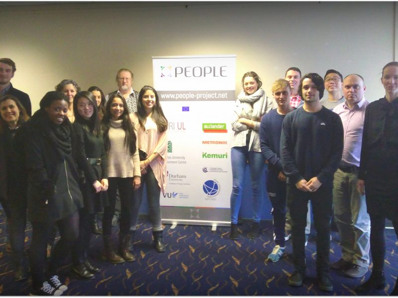 PEOPLE project, Erasmus+, Knowledge Alliances, Durham University, pilot study programme, roll-up, students, Dan Podjed, Sara Arko