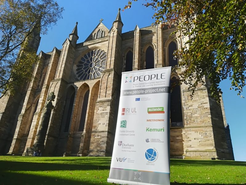 Durham Cathedral, PEOPLE project, roll-up, poster, Erasmus Plus, Consortium meeting, UK