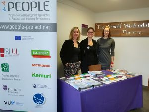 PEOPLE project, Erasmus+, project team, powering the planet, stall, roll-up, flyer, newsletter