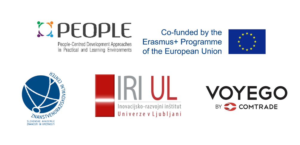 PEOPLE, event, project, Co-Creation Camp, logo, IRI UL, ZRC SAZU, Voyego, Erasmus+